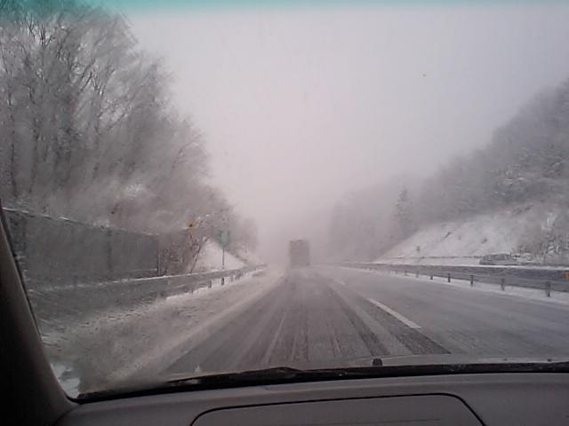 4月の雪…!